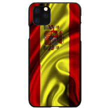 DistinctInk® Hard Plastic Snap-On Case for Apple iPhone - Spain Waving Spanish Flag