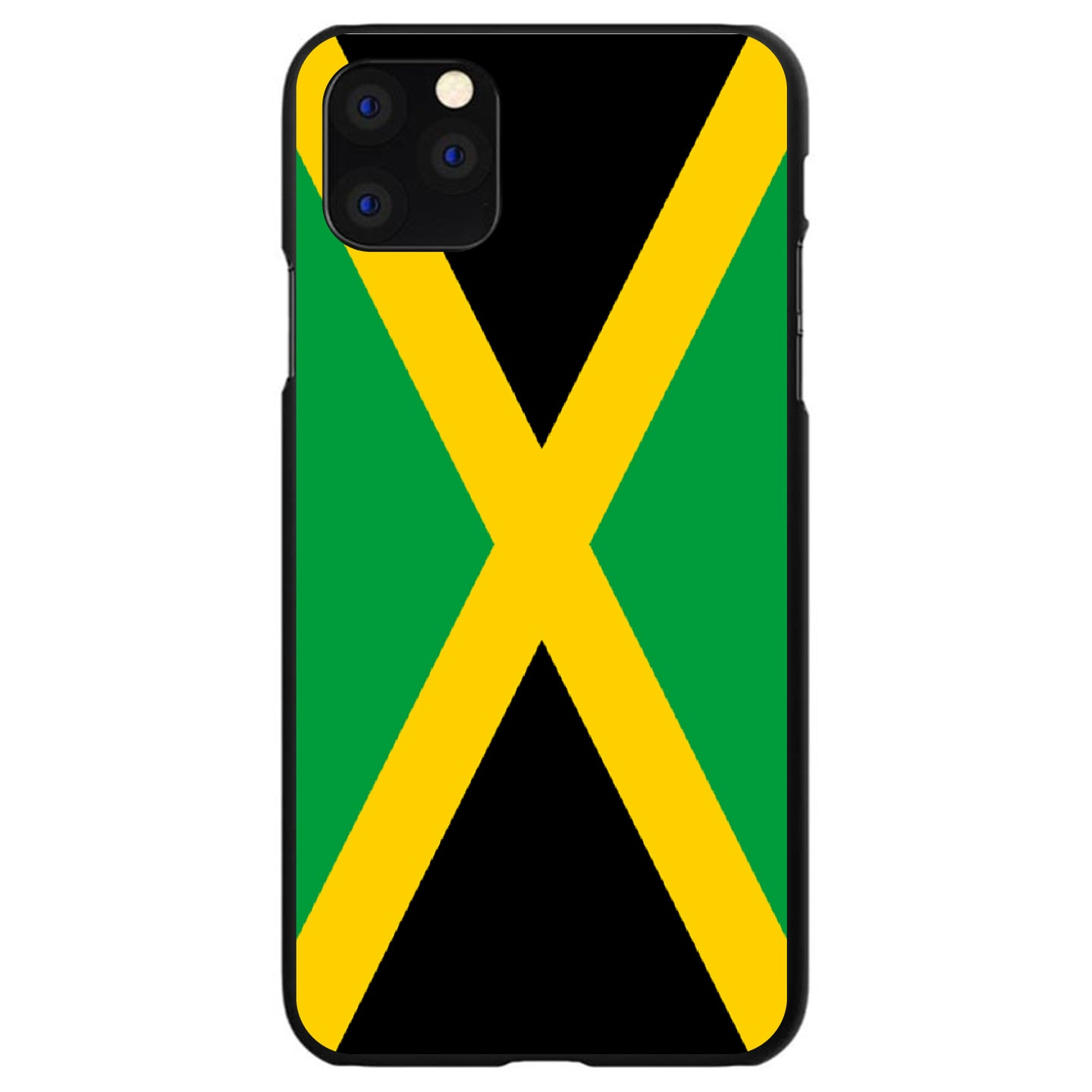 DistinctInk® Hard Plastic Snap-On Case for Apple iPhone - Jamaica Flag