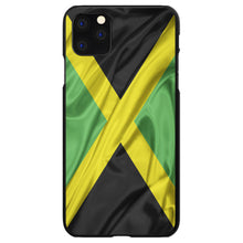 DistinctInk® Hard Plastic Snap-On Case for Apple iPhone - Jamaica Waving Flag