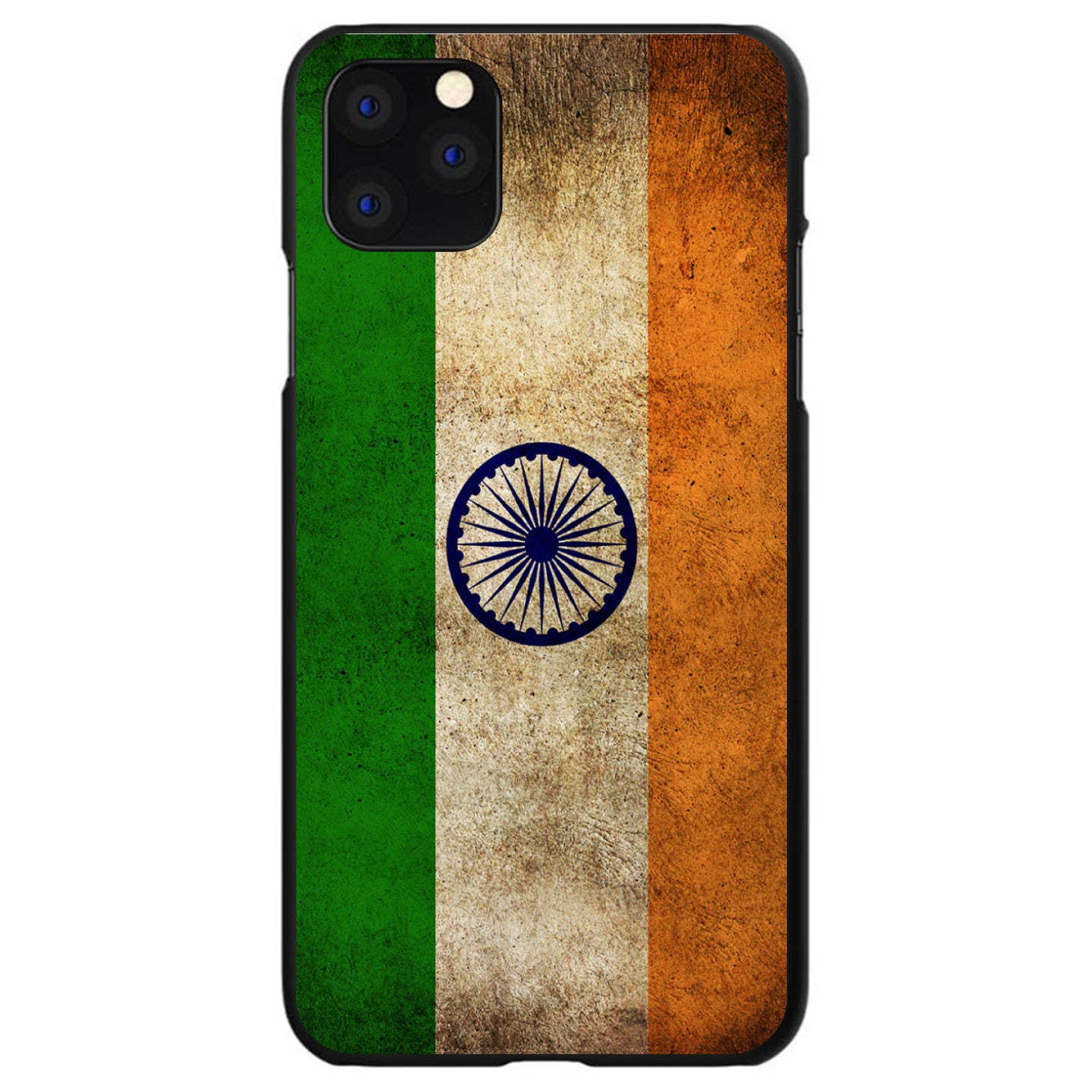DistinctInk® Hard Plastic Snap-On Case for Apple iPhone - India Old Flag Indian