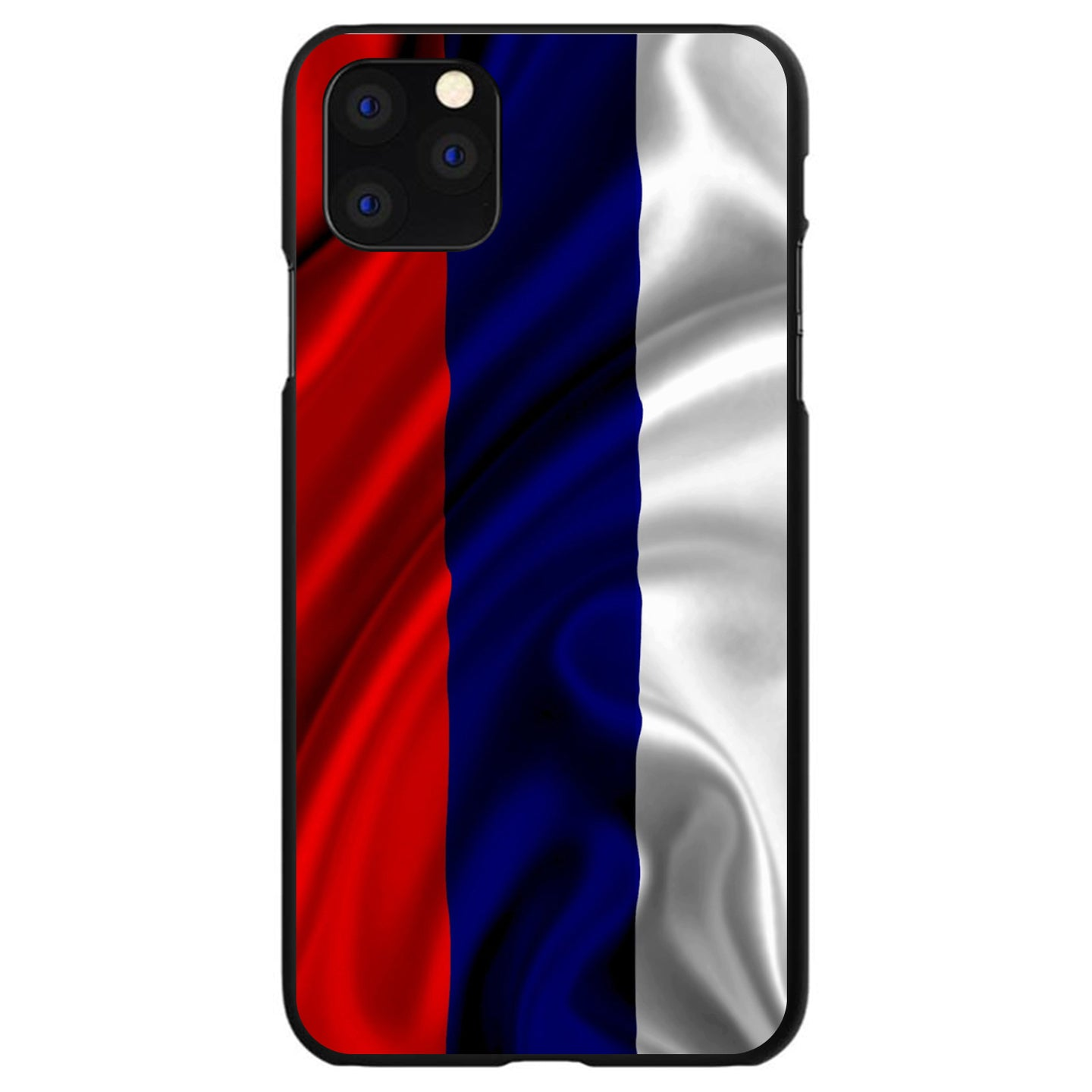DistinctInk® Hard Plastic Snap-On Case for Apple iPhone - Russia Russian Waving Flag