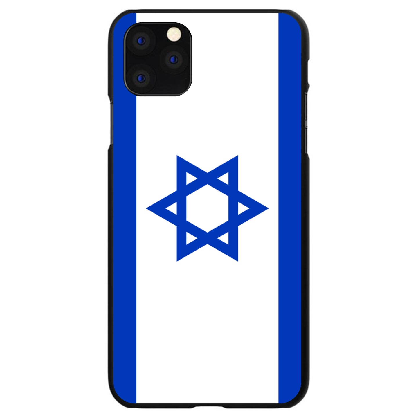 DistinctInk® Hard Plastic Snap-On Case for Apple iPhone - Israel Israeli Flag
