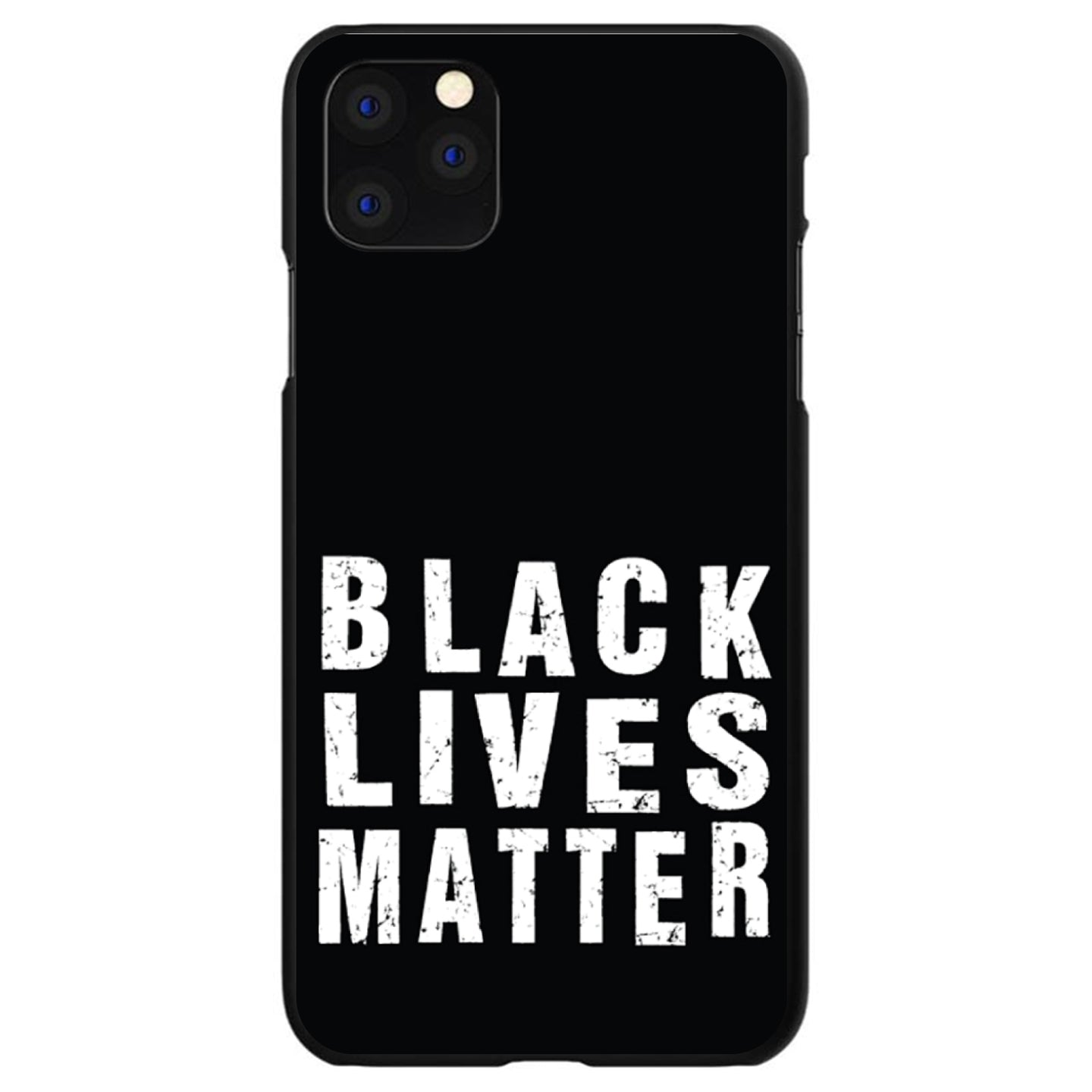 DistinctInk® Hard Plastic Snap-On Case for Apple iPhone - Black Lives Matter