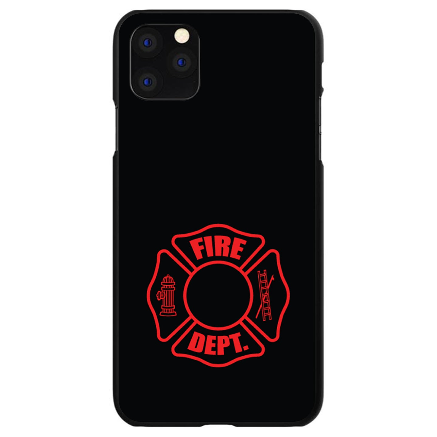 DistinctInk® Hard Plastic Snap-On Case for Apple iPhone - Red Fire Department