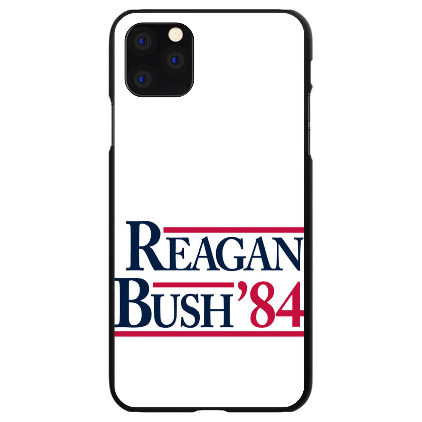 DistinctInk® Hard Plastic Snap-On Case for Apple iPhone - Reagan Bush 1984