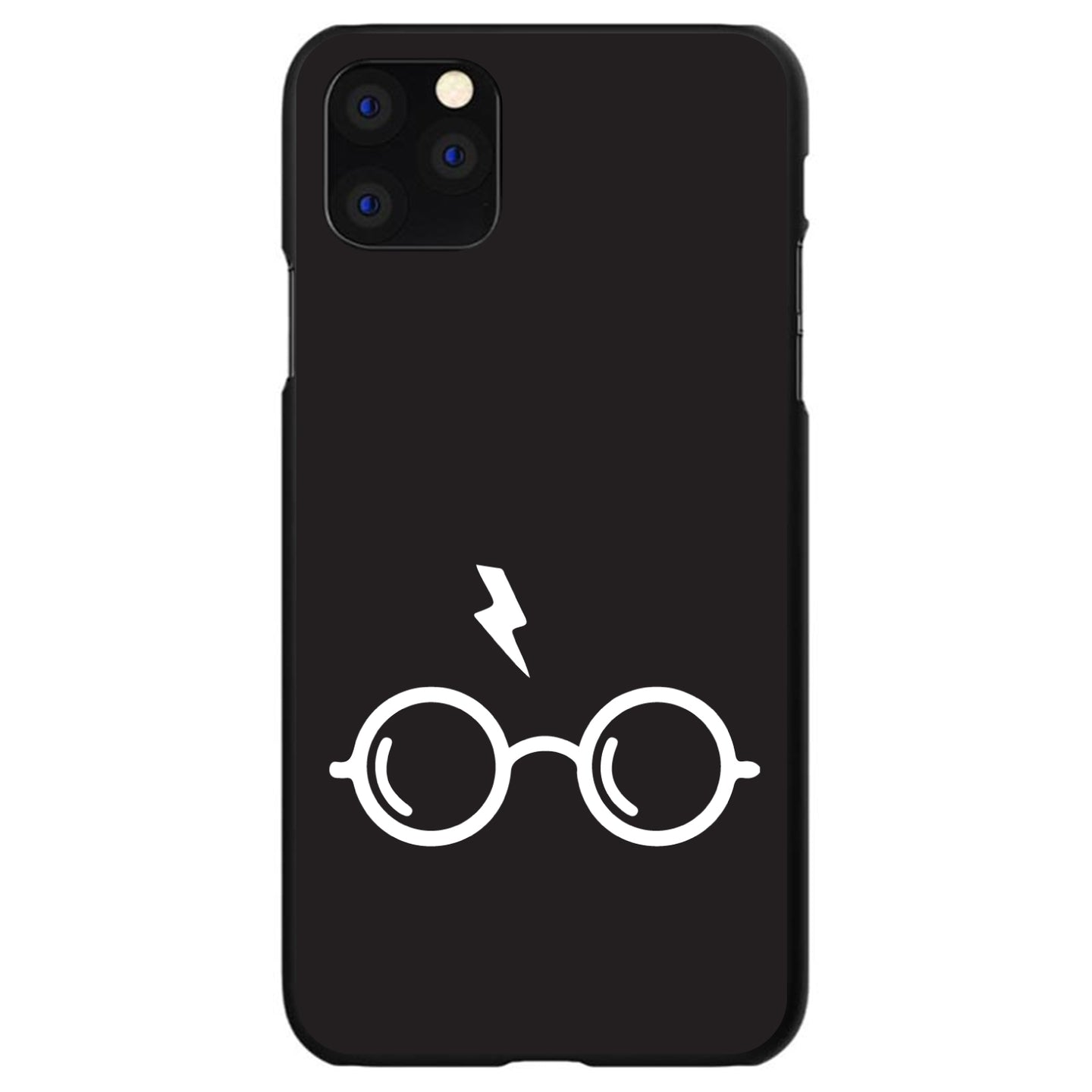 DistinctInk® Hard Plastic Snap-On Case for Apple iPhone - Potter-inspired Glasses