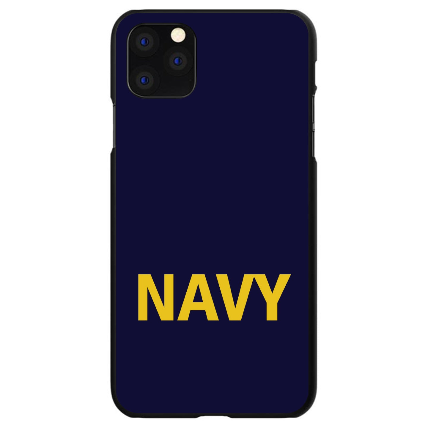 DistinctInk® Hard Plastic Snap-On Case for Apple iPhone - Yellow Navy