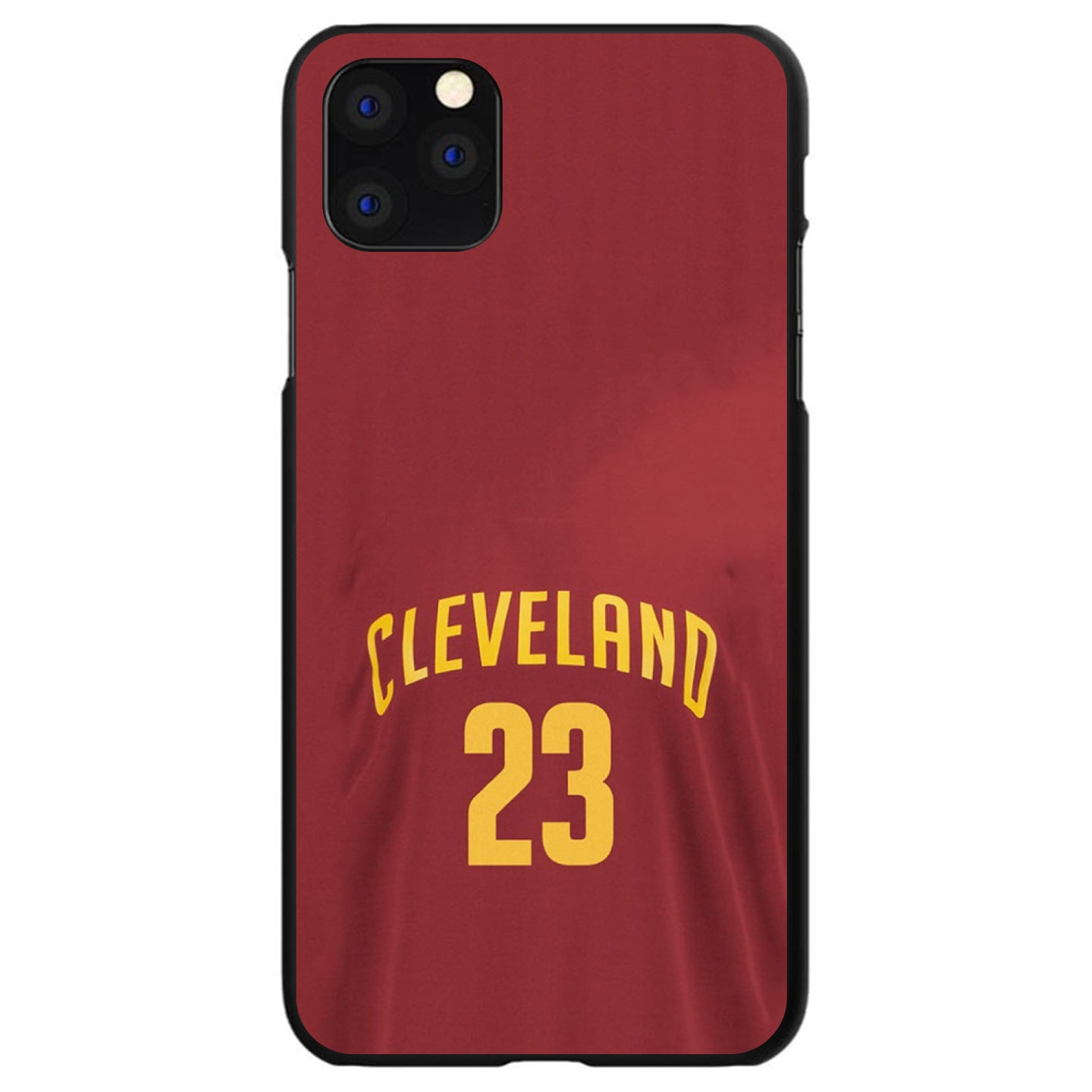 DistinctInk® Hard Plastic Snap-On Case for Apple iPhone - Cleveland 23 Jersey