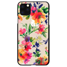 DistinctInk® Hard Plastic Snap-On Case for Apple iPhone - Pink Purple Floral Flowers