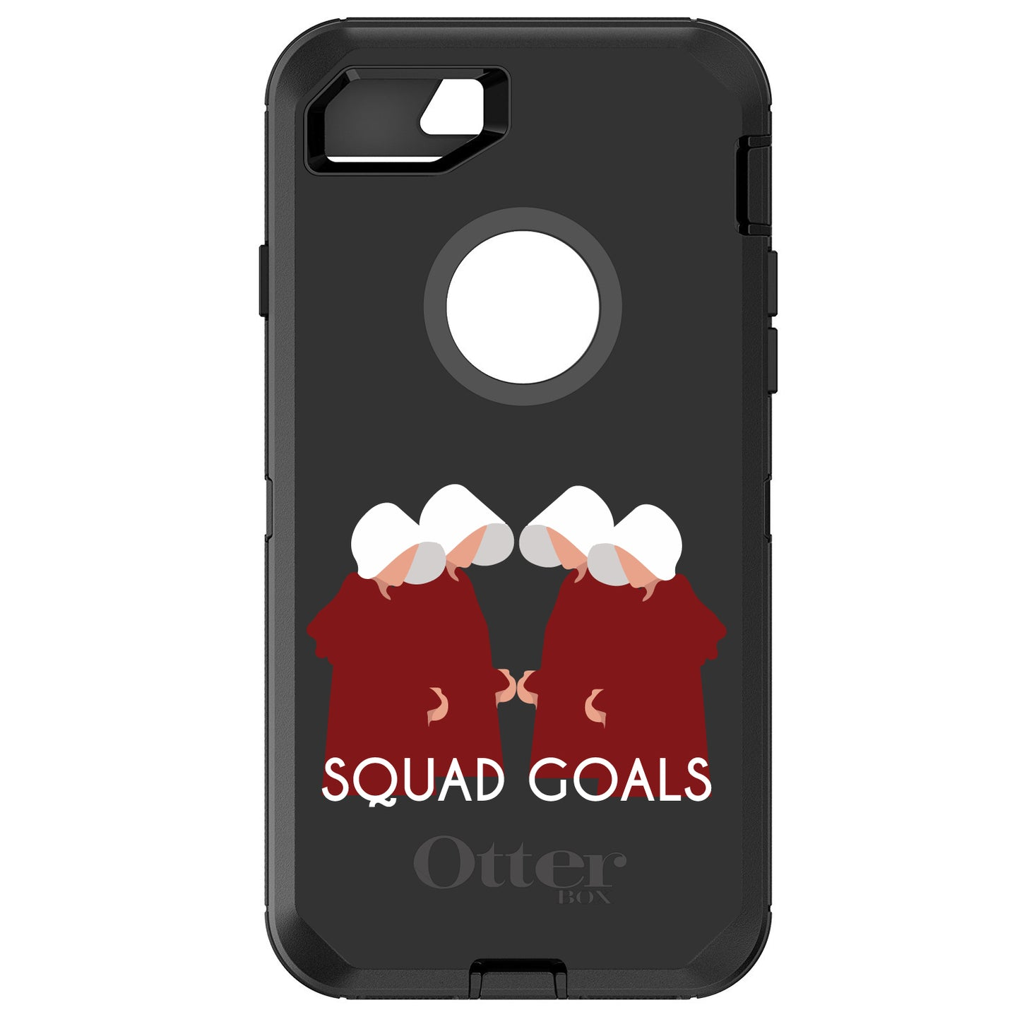 DistinctInk™ OtterBox Defender Series Case for Apple iPhone / Samsung Galaxy / Google Pixel - Handmaid's - Squad Goals