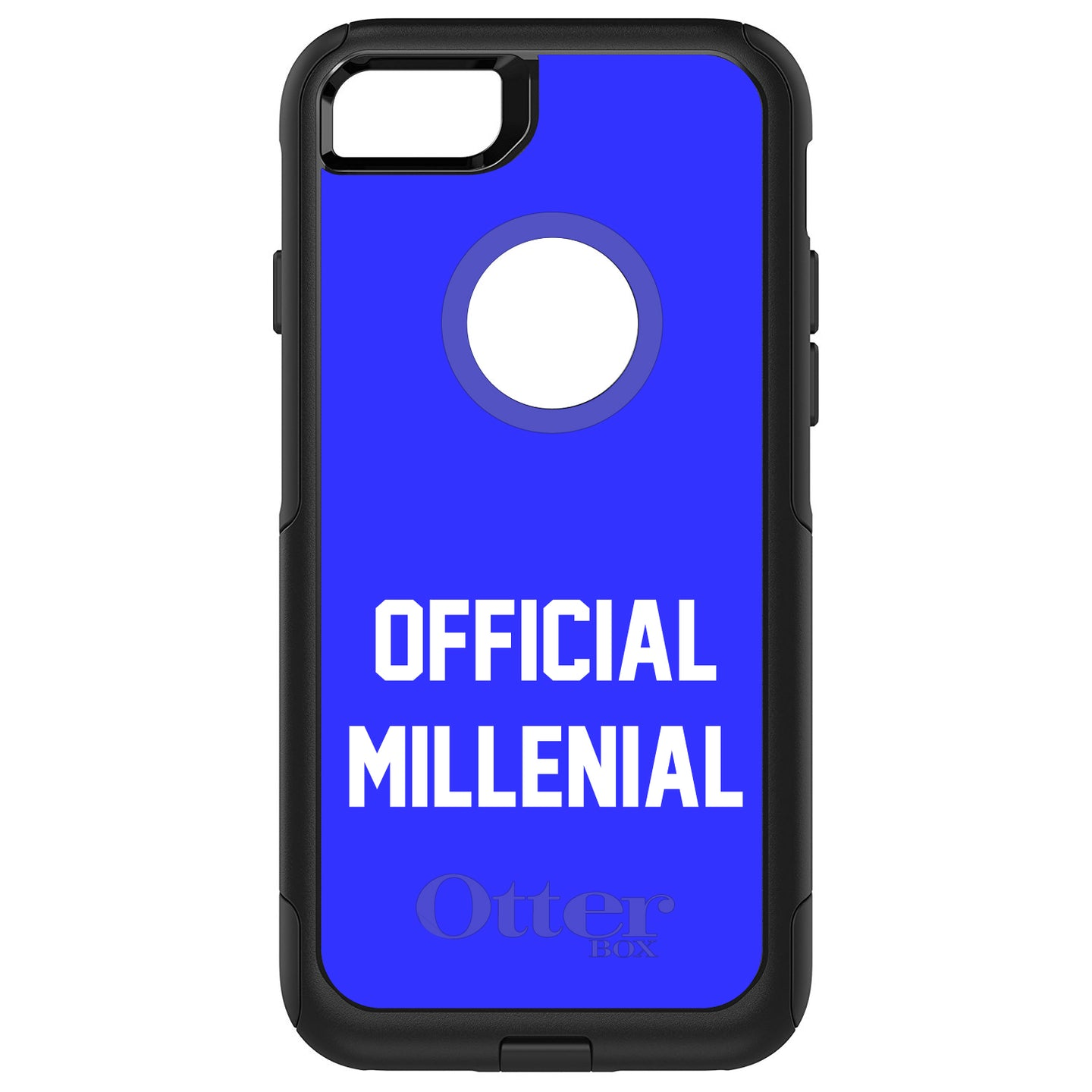 DistinctInk™ OtterBox Commuter Series Case for Apple iPhone or Samsung Galaxy - Official Millenial - Blue & White