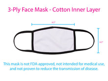 Faith / Hope / Love - Black & White - 3-Ply Reusable Soft Face Mask Covering, Unisex, Cotton Inner Layer
