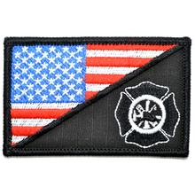 Firefighter Maltese Cross USA Flag