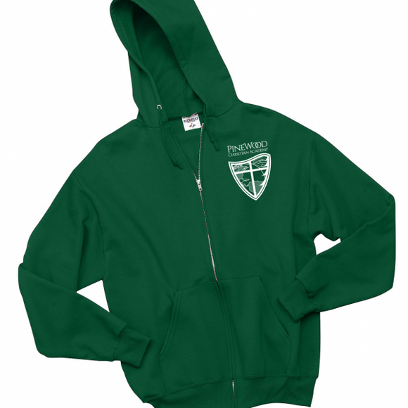 Pinewood Christian Academy Adult Full Zip Hoodie
