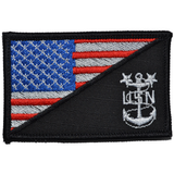 Navy MCPO Master Chief Petty Officer USA Flag