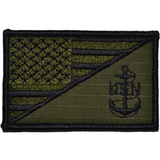 Navy CPO Anchor USA Flag