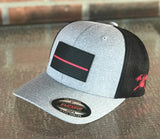 Black Out PVC Thin Red Line Flag Hat
