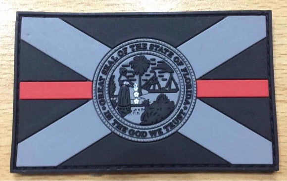 Subdued Thin Red Line PVC Florida Flag