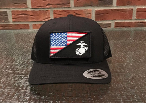 Marine/USA Flag Hat