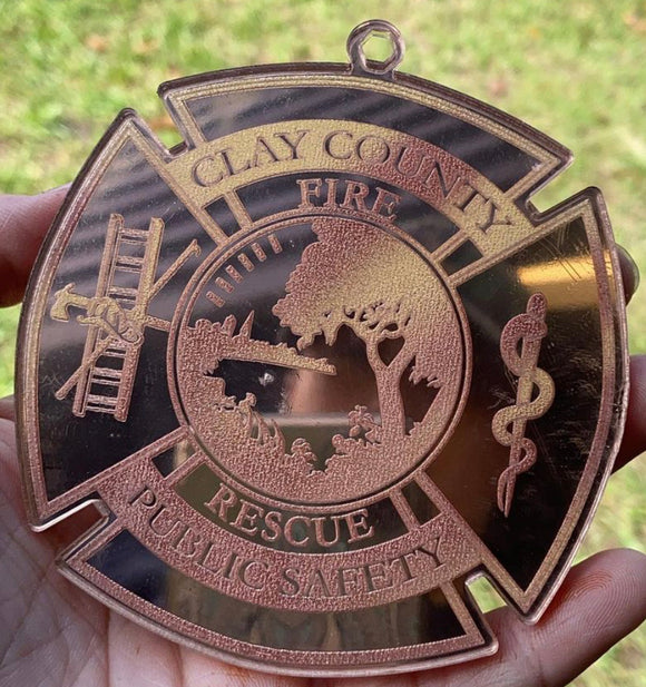 Clay County Fire Rescue Acrylic Ornament