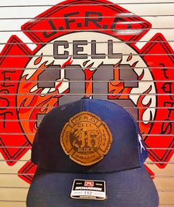 Station 36 Leather Patch Hat