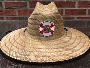 Florida Flag Maltese Straw Hat