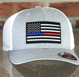 Thin Red/Blue Line Flag Hat