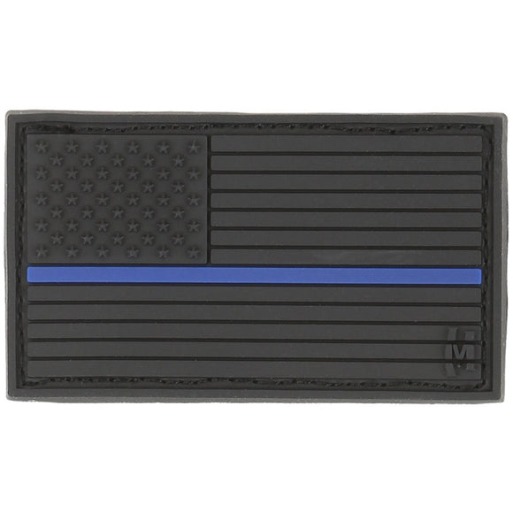 Black Out PVC Thin Blue Line Flag Hat