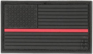 Black Out PVC Thin Red Line Flag