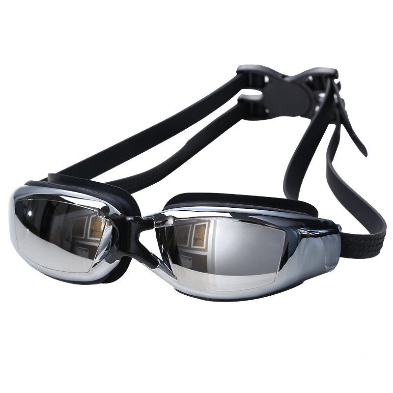 Electroplated AntiFog Swimming Goggles (Black)