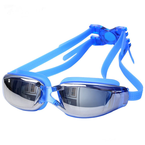 Electroplated AntiFog Swimming Goggles (Blue)