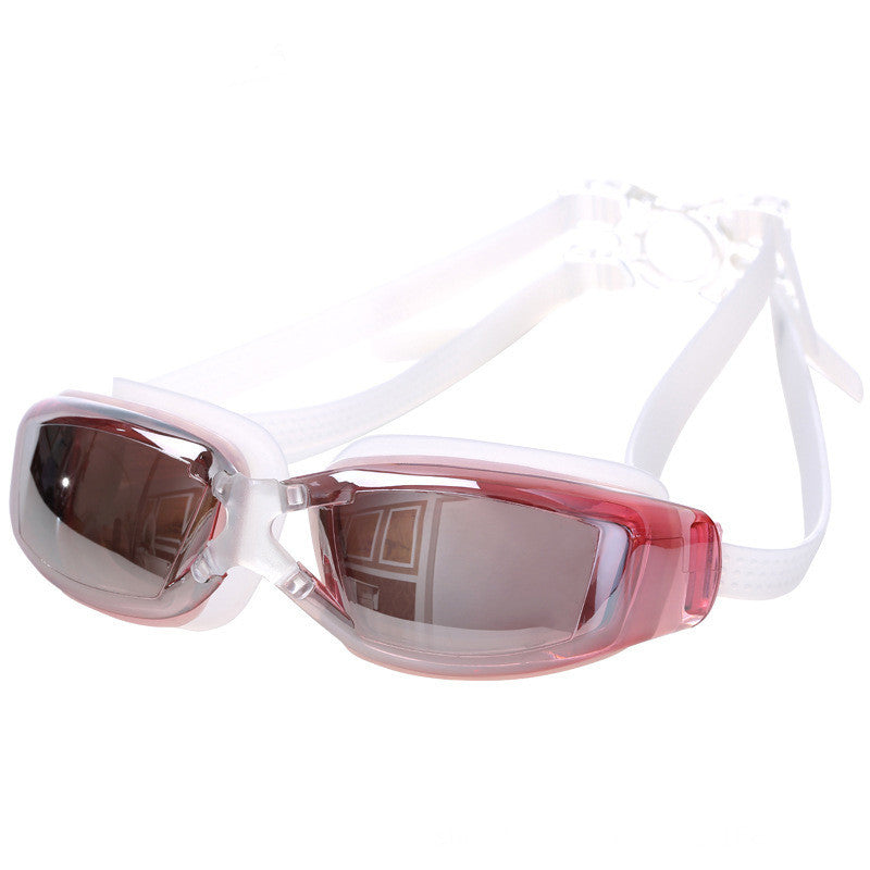Electroplated AntiFog Swimming Goggles (Pink)
