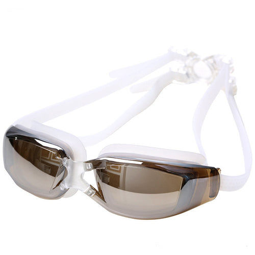 Electroplated AntiFog Swimming Goggles (White)