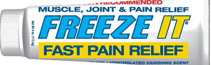 FREEZE IT, The Maker of Fast Acting Pain Solutions