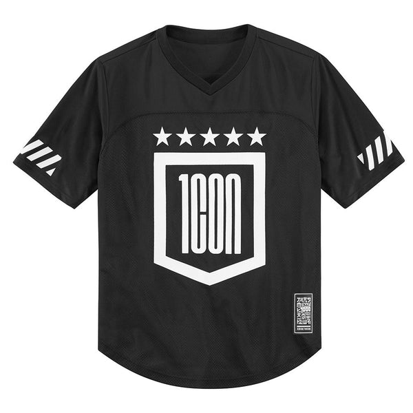 ICON GRIDDLE™ SHORT SLEEVE JERSEY BLACK/WHITE