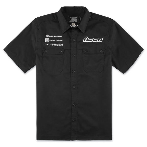 ICON KINGSLEY™ SHOP SHIRT BLACK