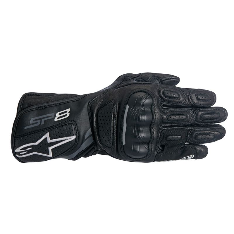 ALPINESTARS SP-8 V2 PERFORMANCE LEATHER LONG GLOVES BLACK/GRAY