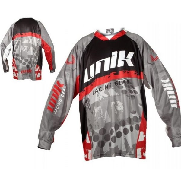 TRICOU CROSS-ENDURO UNIK RACING MODEL MX01 NEGRU/ROSU