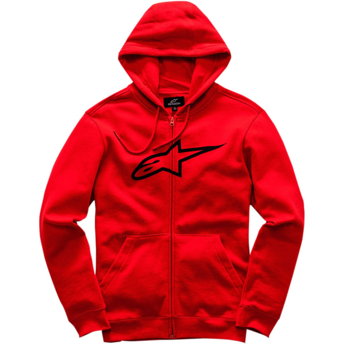 ALPINESTARS AGELESS ZIP UP FLEECE HOODY RED