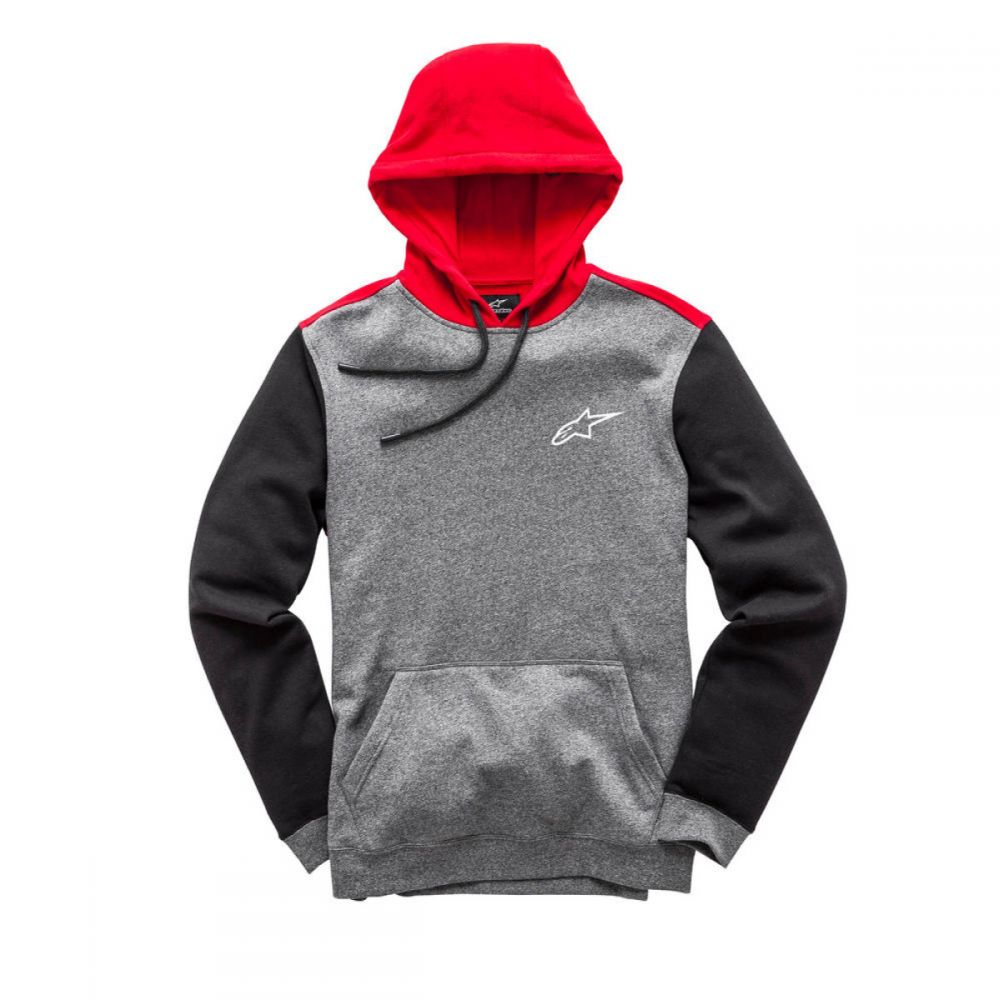 ALPINESTARS OVERSHOT FLEECE HOODY CHARCOAL HEATHER
