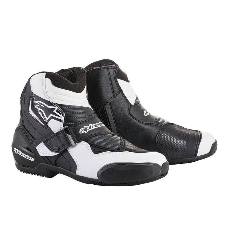 Cizme ALPINESTARS SMX-1 R V2 PERFORMANCE SHOES BLACK/WHITE