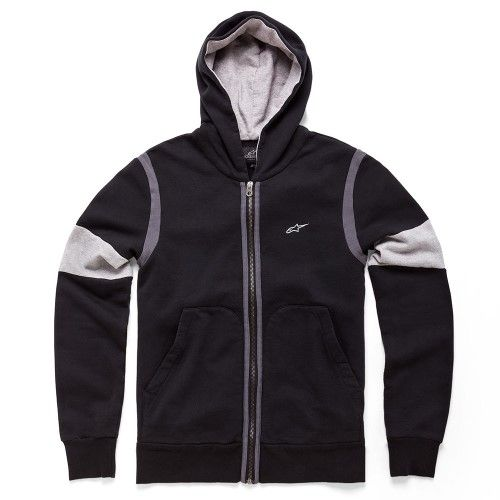 ALPINESTARS CHAMP ZIP UP FLEECE HOODY BLACK