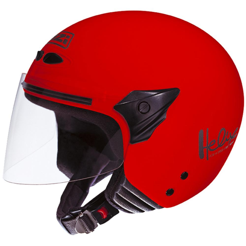 Casca open face NZI Helix II Junior, Red