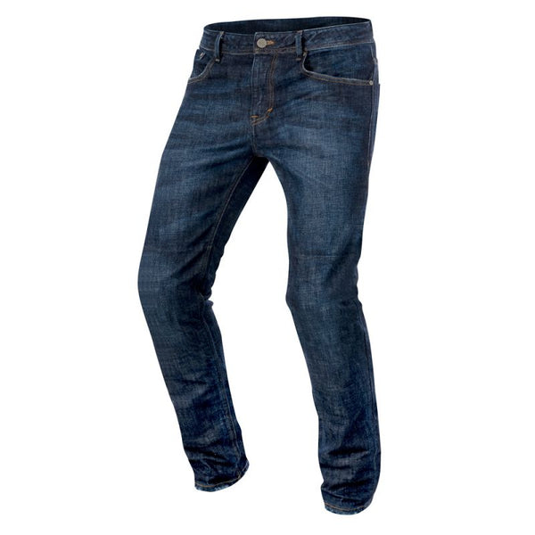 ALPINESTARS COPPER ROAD RIDING DENIM PANTS DARK RINSE