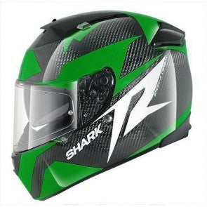 Casca SHARK SPEED-R 2 CARBON RUN Black green white