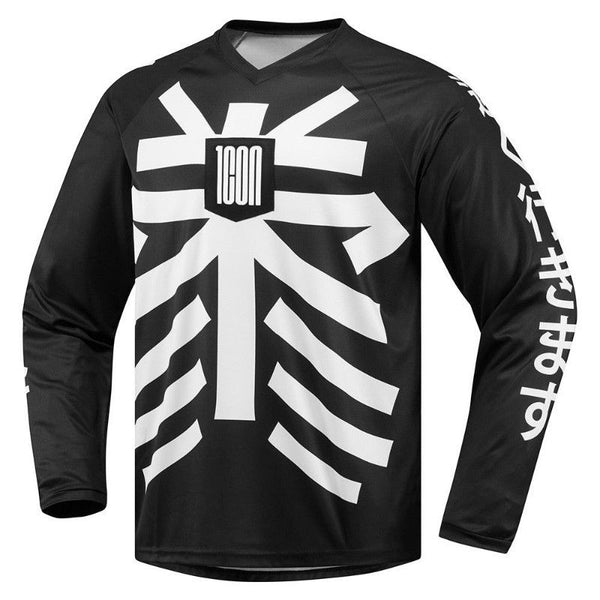 ICON LUCKYTIME™ LONG SLEEVE JERSEY BLACK/WHITE