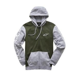 ALPINESTARS MACHINE ZIP UP FLEECE HOODY MILITARY GREEN