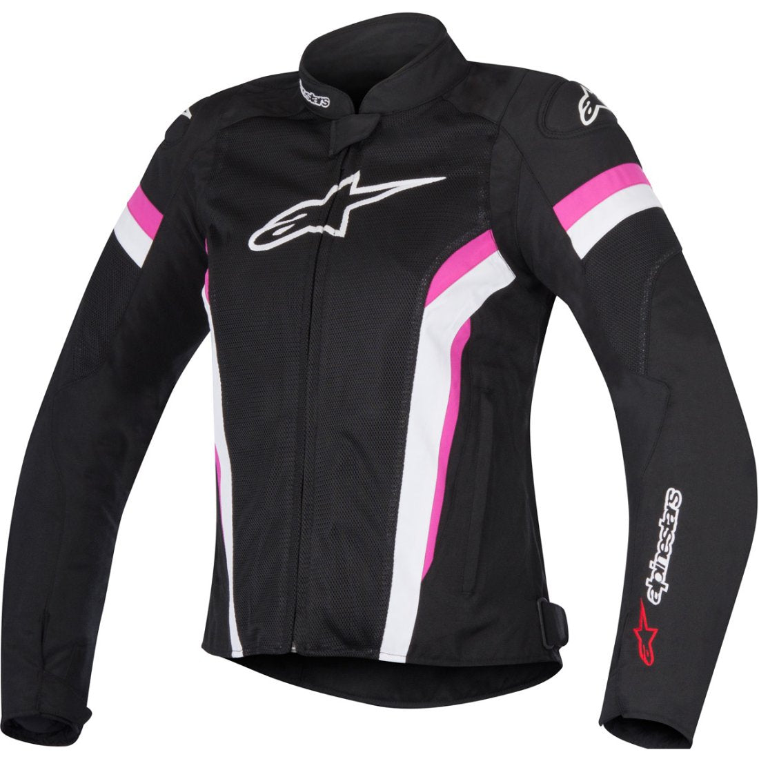ALPINESTARS WOMENS STELLA T-GP PLUS R V2 SPORT RIDING JACKET BLACK/WHITE/FUCHSIA