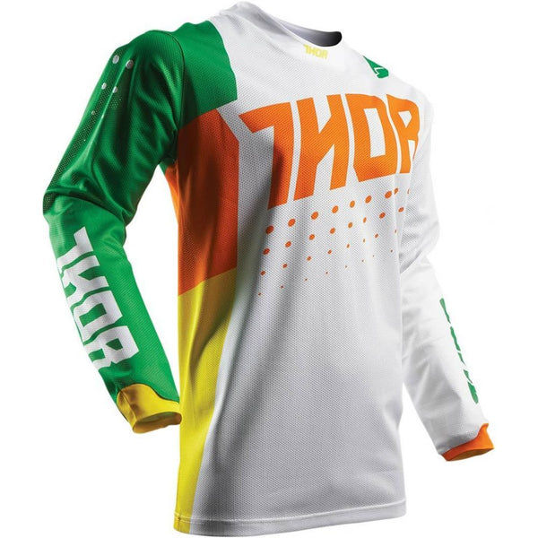 Thor Tricou Pulse Air Aktiv Cactus S7 Green Orange/White Copii
