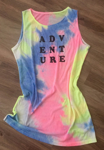 Adventure Tie-Dye Tank Dress